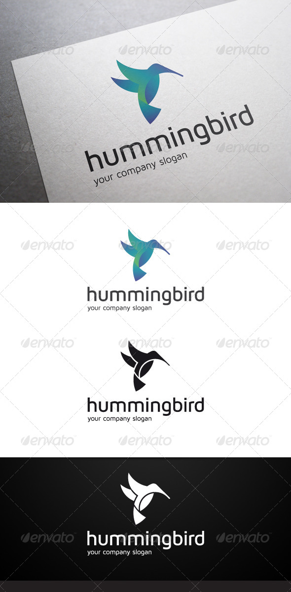 GraphicRiver Hummingbird Logo 7101070