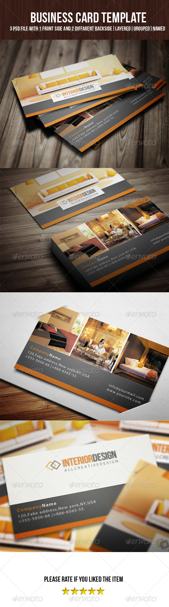 GraphicRiver Interior Business Card 7101084