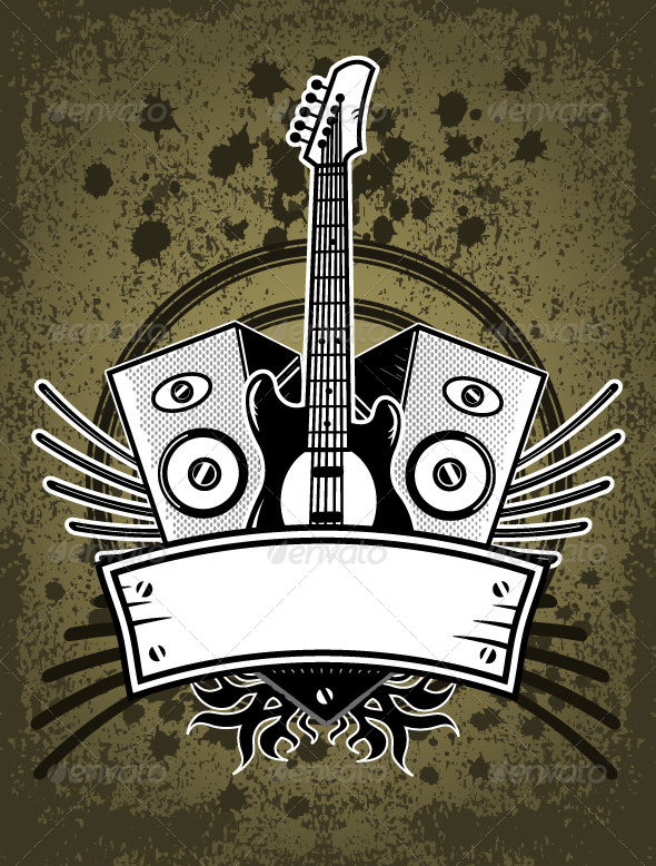 GraphicRiver Rock Music Background 7101319