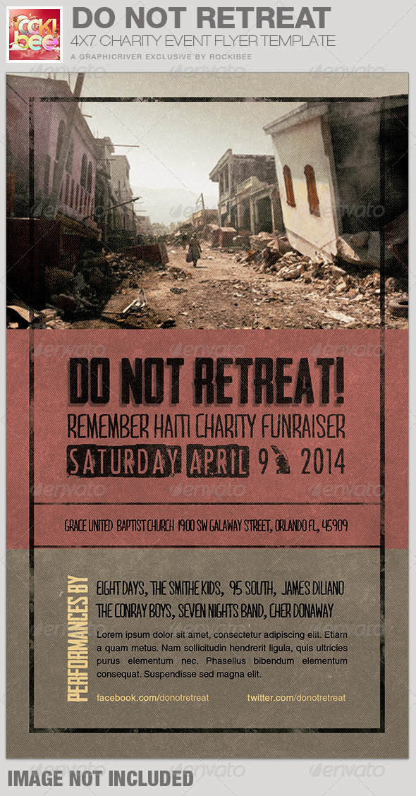 GraphicRiver Do Not Retreat Charity Event Flyer Template 7101428