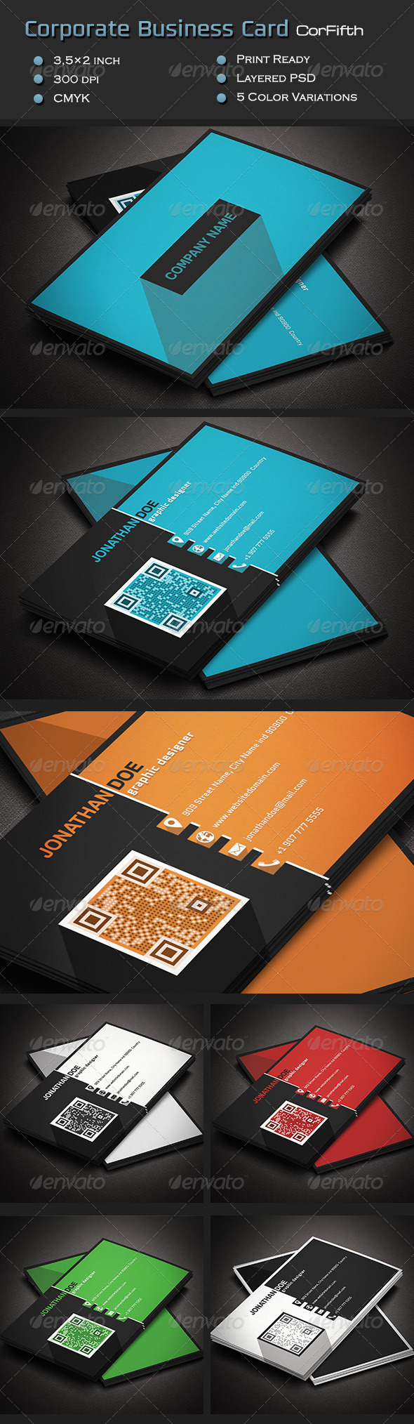GraphicRiver Corporate Business Card CorFifth 7101645