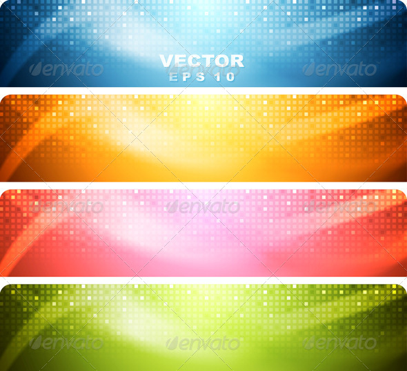 GraphicRiver Abstract Shiny Banners 7101742