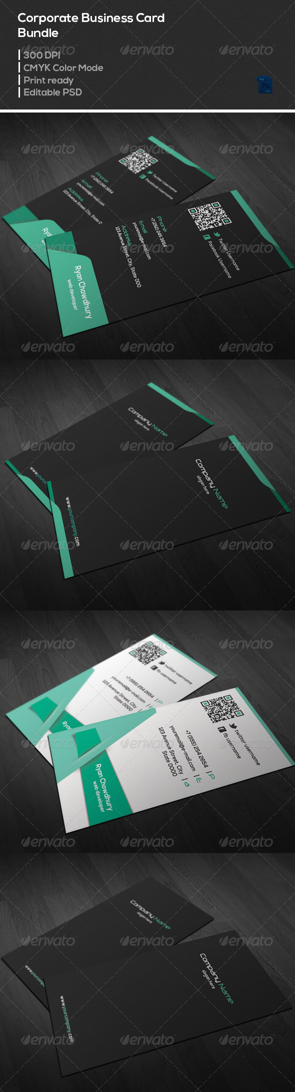 GraphicRiver Corporate Business Card Bundle 7101752
