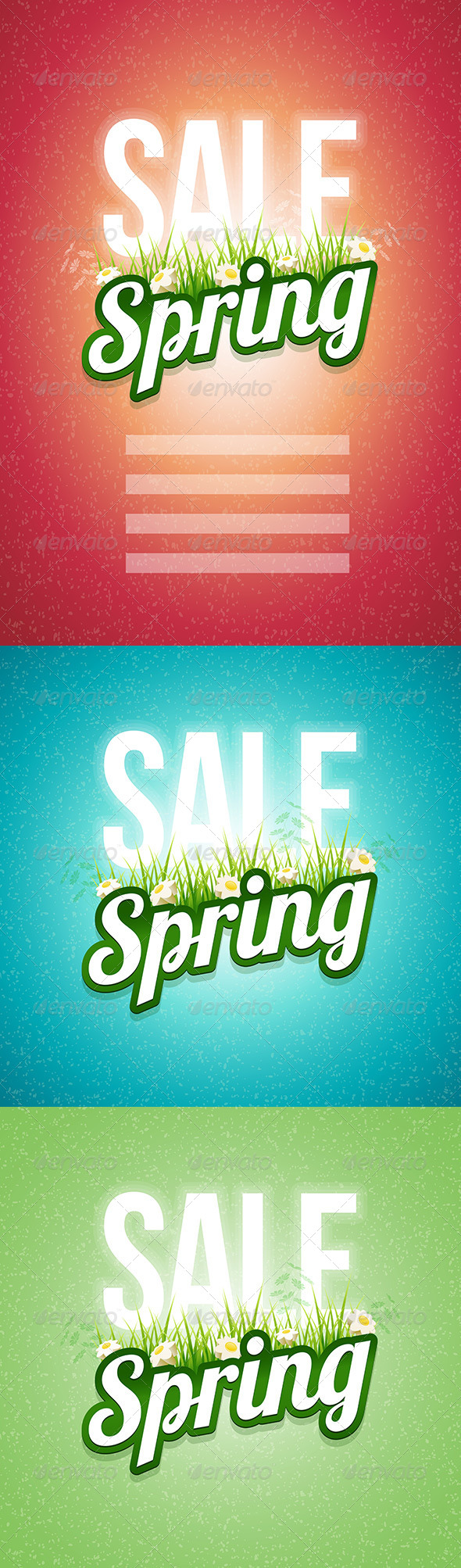 GraphicRiver Spring Sale Design Set 7101773