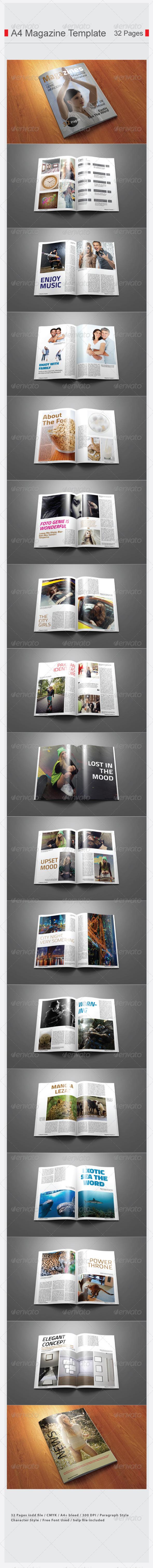 GraphicRiver A4 Magazine Template 7101780