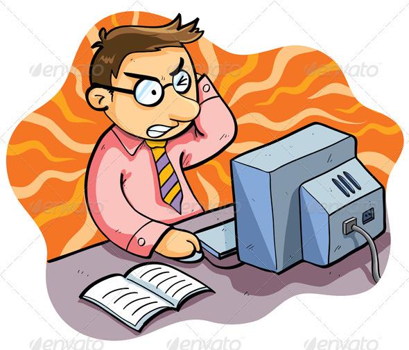 Stress Working Man