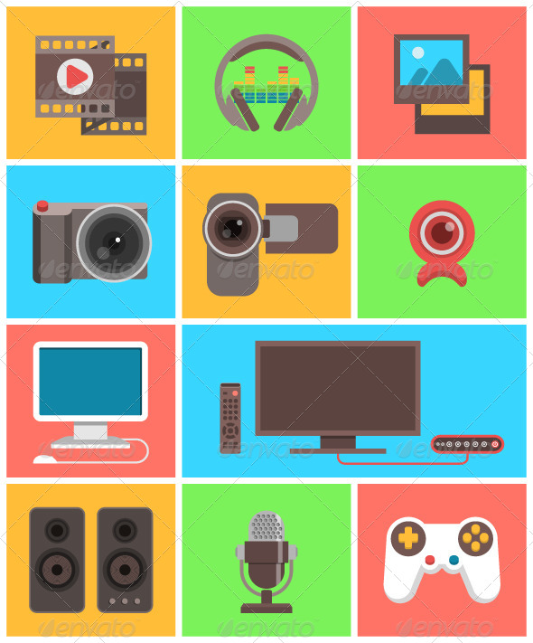 GraphicRiver Multimedia Icons 7101797