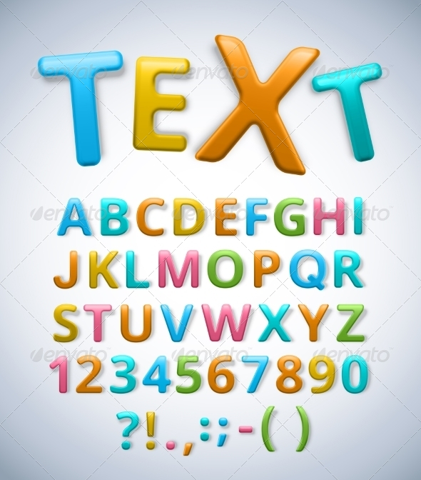 GraphicRiver Colorful Alphabet 7101809