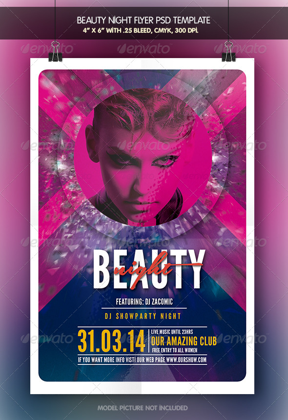 GraphicRiver Beauty Night Flyer Template 7058285