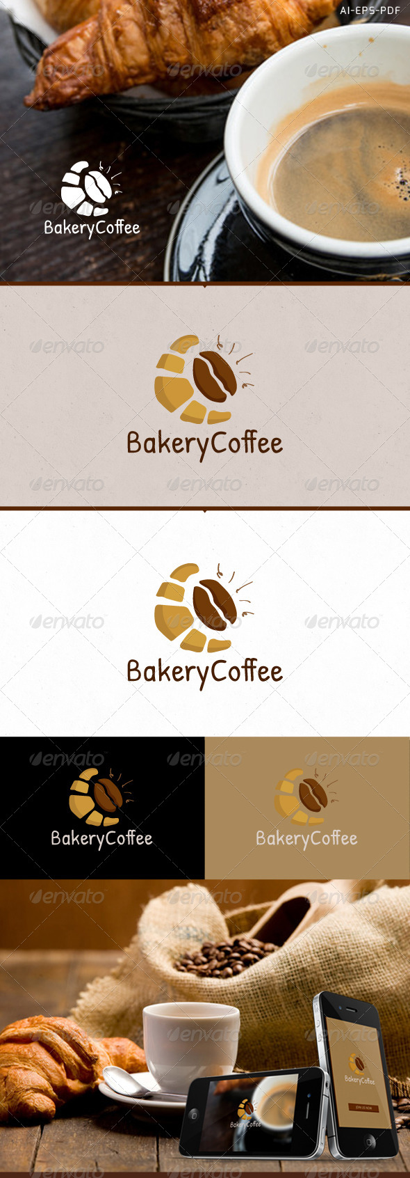 GraphicRiver Bakery Coffee Hand Drawn Logo 7101942