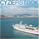 Cruise Ship In the Ocean Approaching Harbor - VideoHive Item for Sale