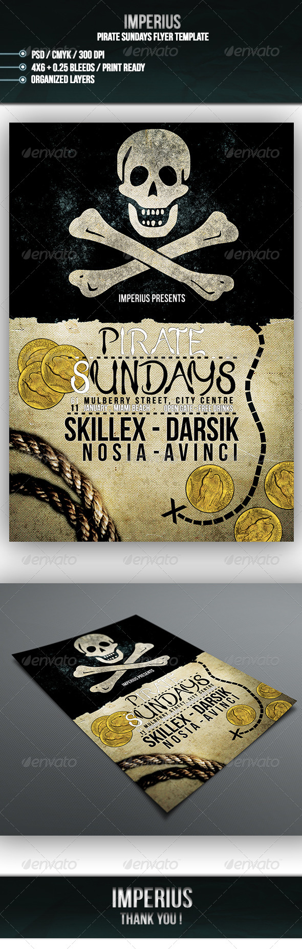 GraphicRiver Pirate Sundays Flyer 7101969
