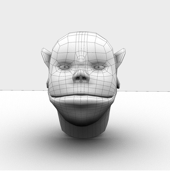 3DOcean Base Mesh Cartoon Head 7101973
