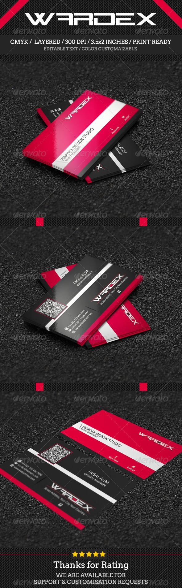 GraphicRiver Corporate Business Card Design 7101984