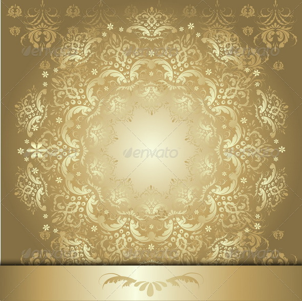GraphicRiver Pattern with Gold Ribbon 7102041