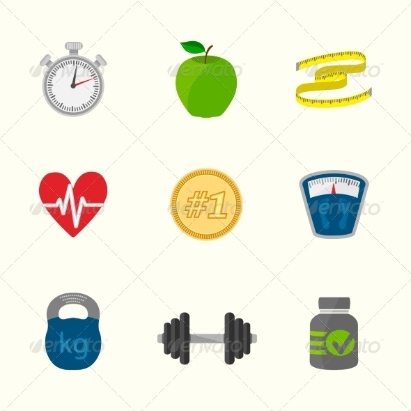 GraphicRiver Fitness Icons Set 7102280