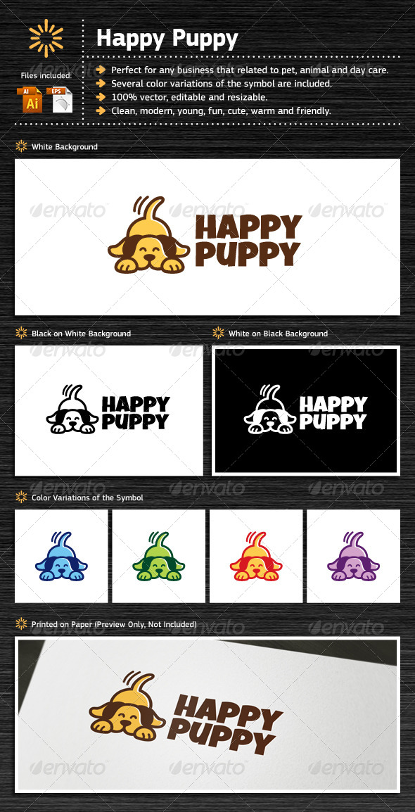 GraphicRiver Happy Puppy 7102309