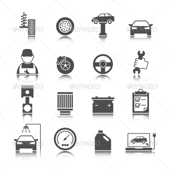 GraphicRiver Car Auto Service Icons Set 7102313