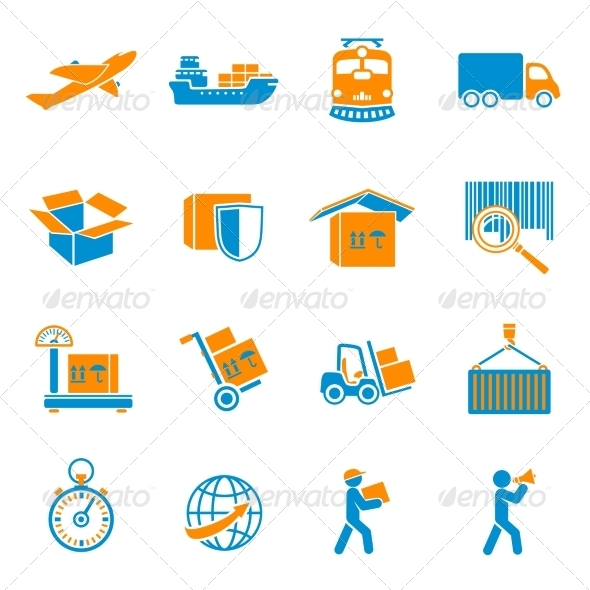 GraphicRiver Shipping Delivery Icons Set 7102315