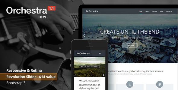 Orchestra - Responsive HTML template