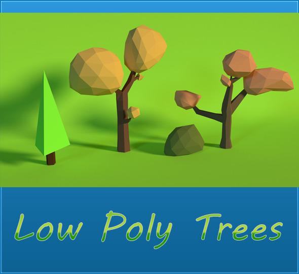 3DOcean LowPoly Trees Pack2 7102892