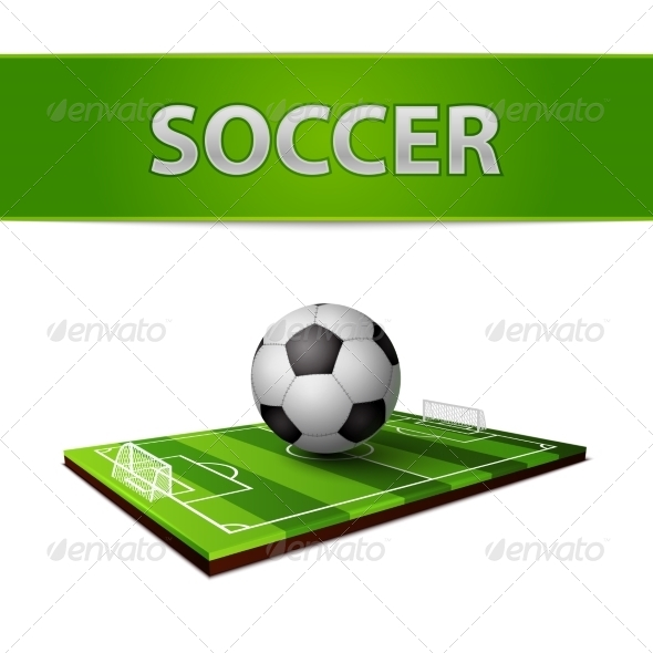 GraphicRiver Soccer Ball and Grass Field Emblem 7103093