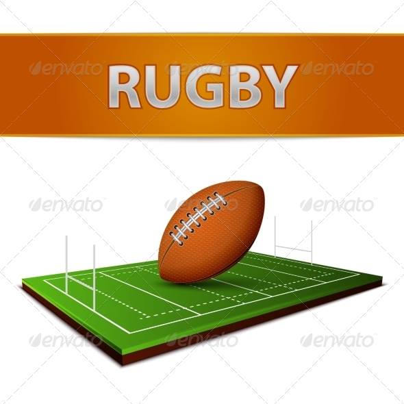 Football or Rugby Ball Emblem