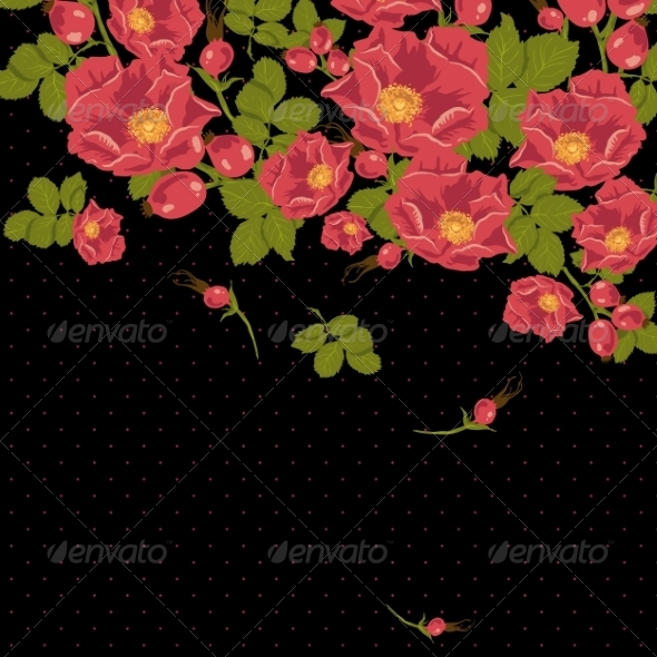 GraphicRiver Floral Background 7103156