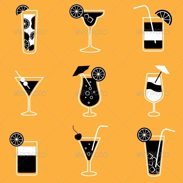 GraphicRiver Cocktails 7103162