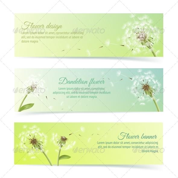 GraphicRiver Dandelion Banners 7103382