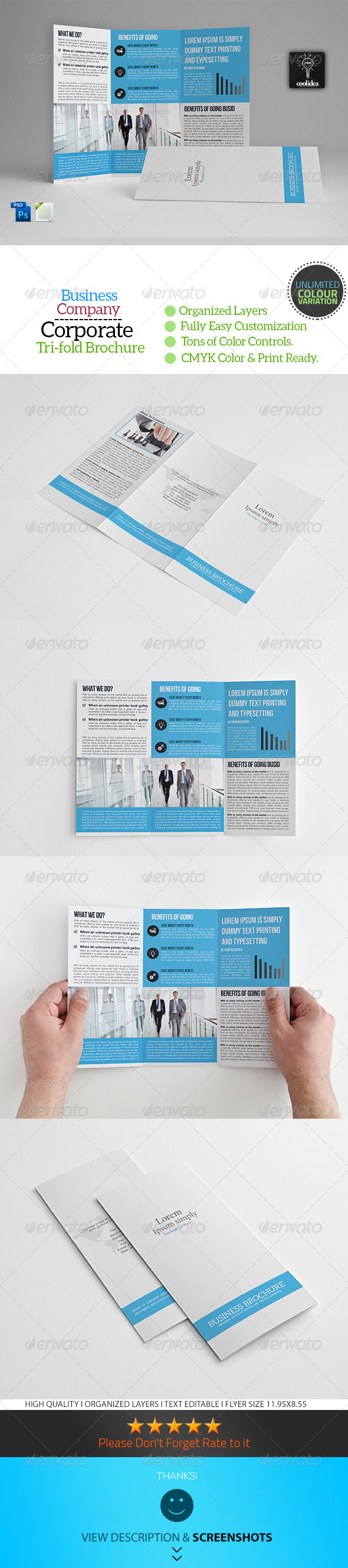 GraphicRiver A4 Trifold Business Brochure Template Vol05 7103391