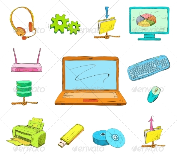 GraphicRiver Business Computer Icons Set 7103469