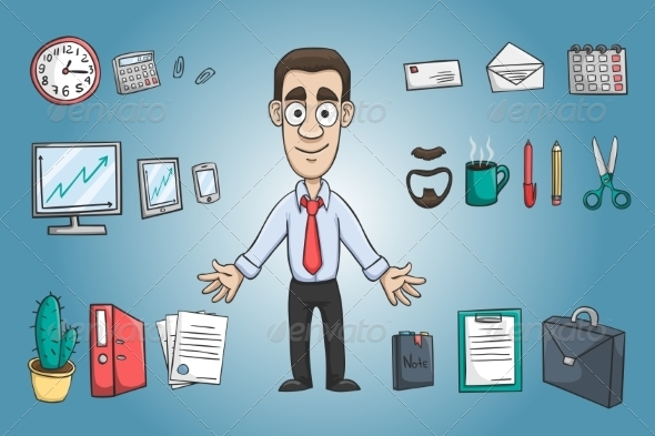 GraphicRiver Business Man Character 7103539