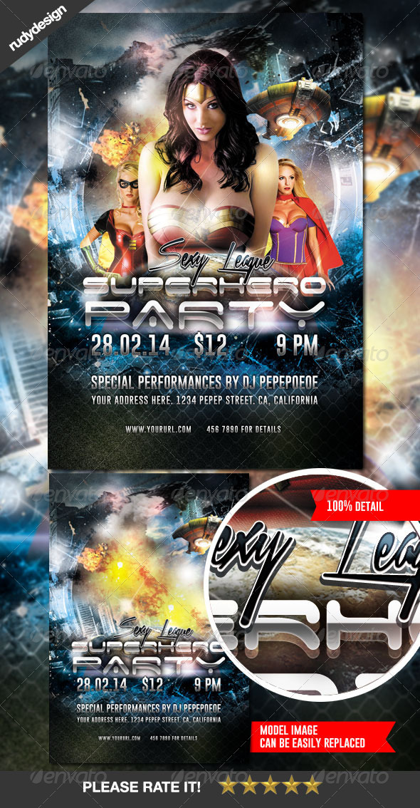 superhero flyer templates from graphicriver