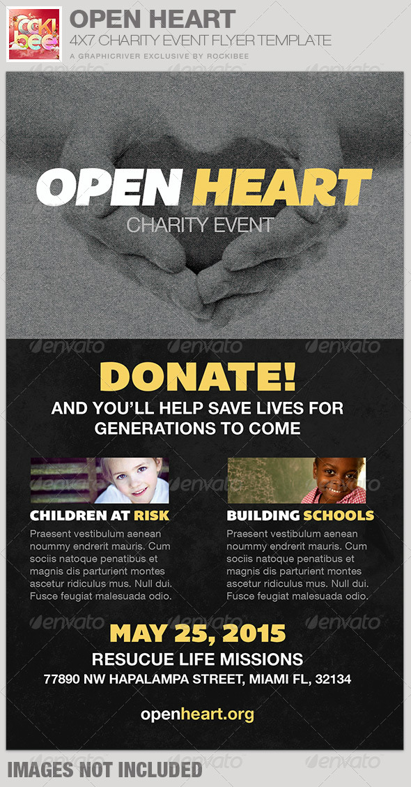 GraphicRiver Open Heart Charity Event Flyer Template 7103759