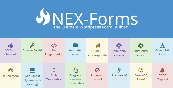 CodeCanyon NEX-Forms The Ultimate WordPress Form Builder 7103891