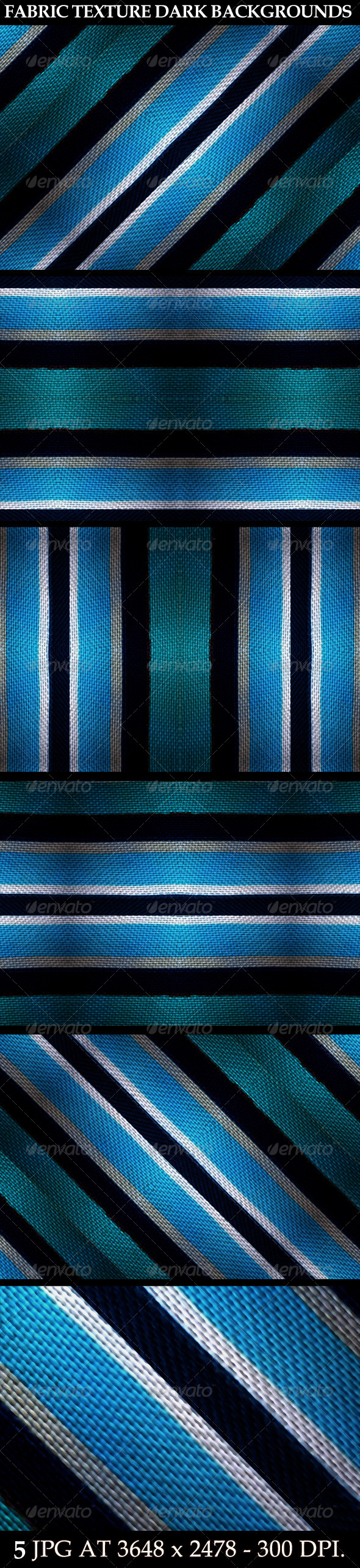 GraphicRiver 5 Fabric Texture Dark Backgrounds 7103899