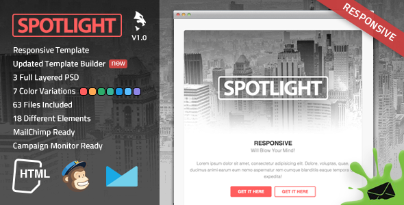 ThemeForest Spotlight Responsive Email Template 7104093