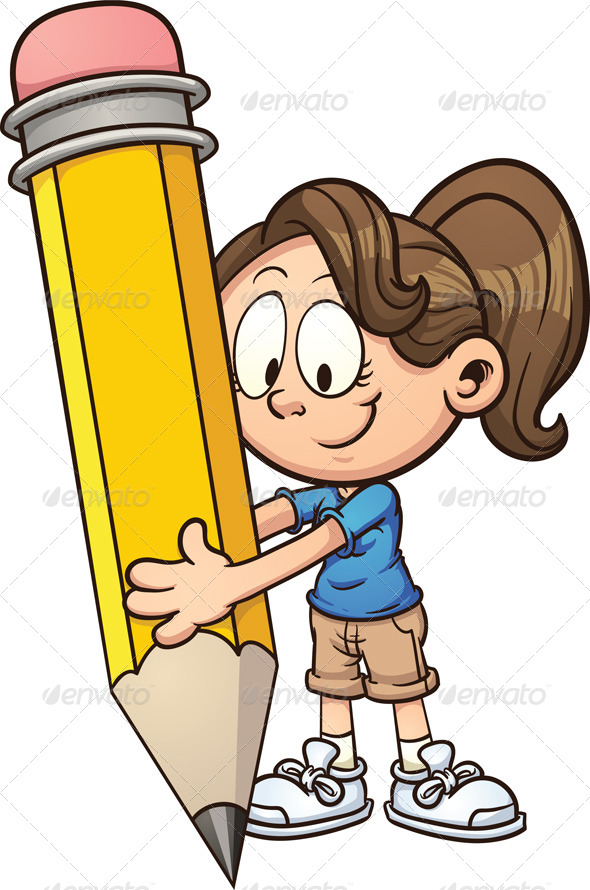 GraphicRiver Girl Writing 7104115