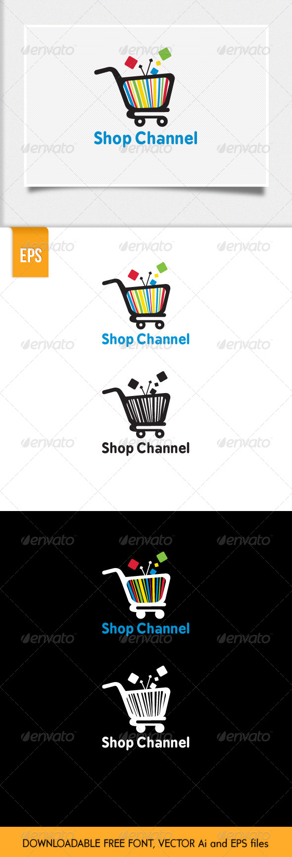 GraphicRiver Shop Channel Logo Template 7104405