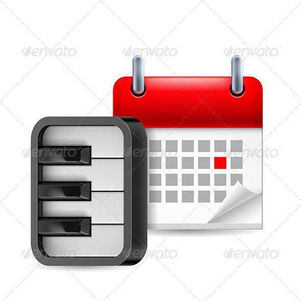 GraphicRiver Piano and Calendar 7104468