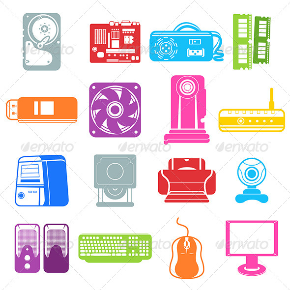 GraphicRiver Computer Component Icons 7104550