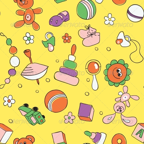 GraphicRiver Seamless Children Background 7104672