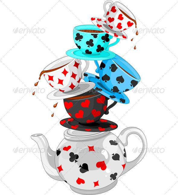 GraphicRiver Wonder Tea Party Pyramid 7104690