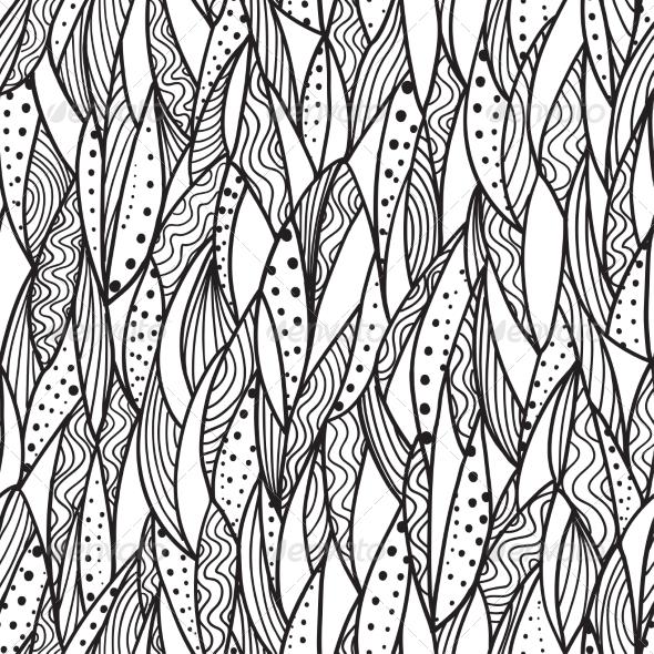 GraphicRiver Seamless Monochrome Pattern 7104694