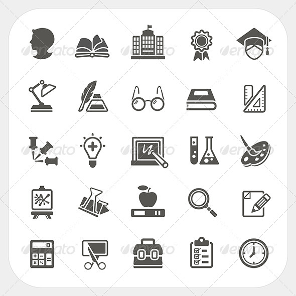 GraphicRiver Education Icons Set 7104728