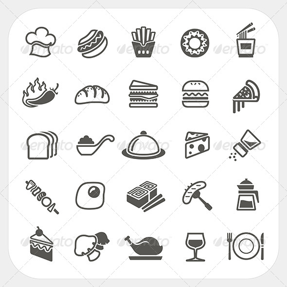 GraphicRiver Food Icons Set 7104734