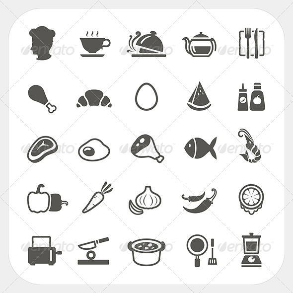 GraphicRiver Food Icons Set 7104739