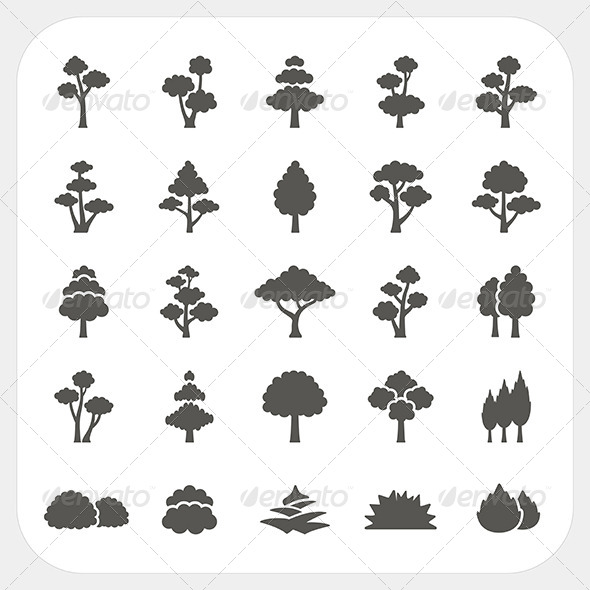 GraphicRiver Tree Icons Set 7104747