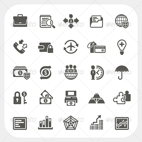 GraphicRiver Business and Finance Icons Set 7104756